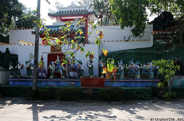 Chinese Garden Chao Dynasty warriors display Pattaya