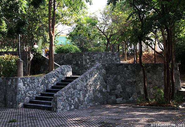 Chinese garden granite stairs Pattaya Thailand