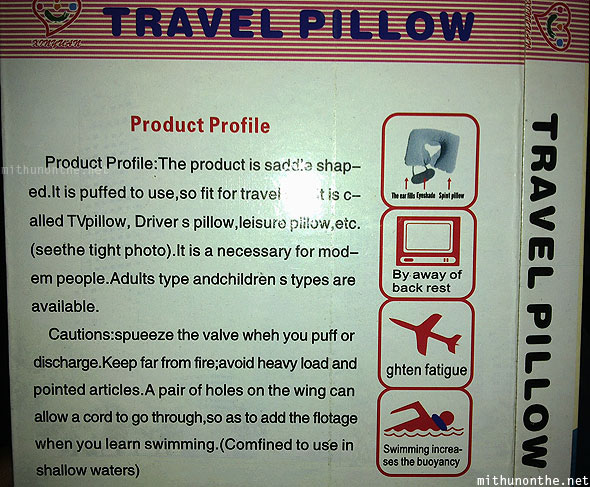 Chinese travel pillow Sampeng Bangkok