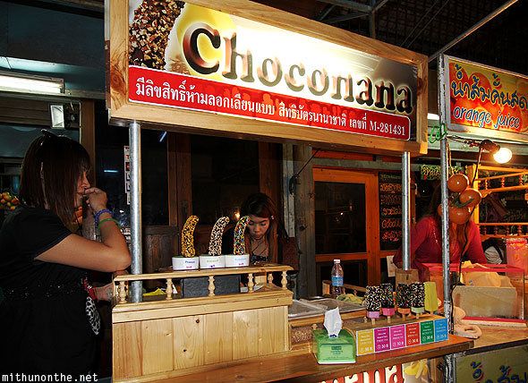 Choconana vendor Chatuchak market Bangkok