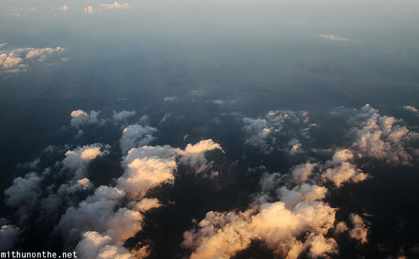Clouds Thailand aerial photography from plane