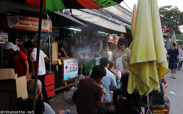 Doner kabab Turkish ice cream Chatuchak weekend market Bangkok