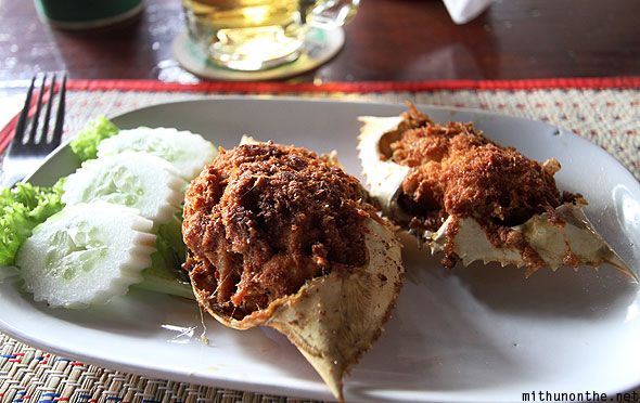 Fried stuffed crab Pattaya Thailand