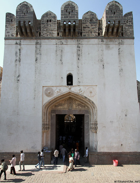 Golconda fort entrance tower Hyderabad