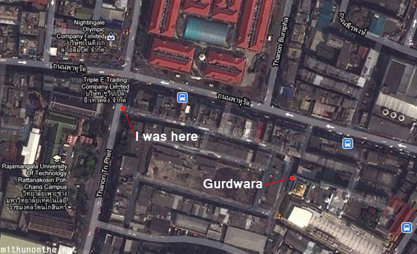 Gurdwara Pahurat map Bangkok