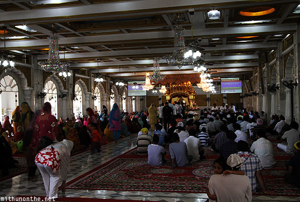 Gurdwara prayer hall Bangkok Thailand