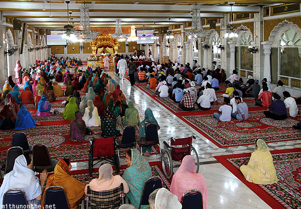 Gurdwara prayer hall carpet Bangkok Thailand