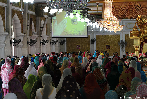 Gurdwara Punjabi women praying Bangkok Thailand