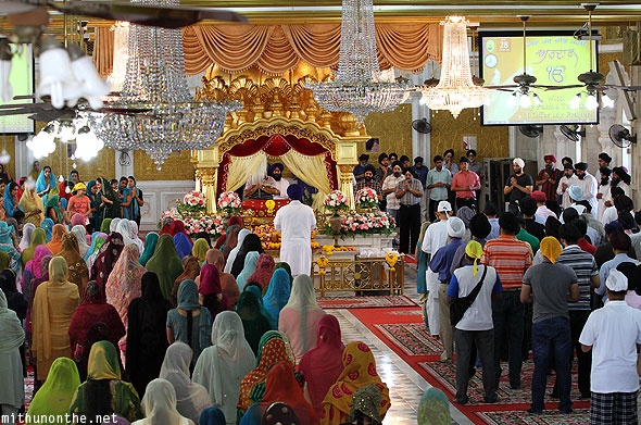 Gurdwara Punjabis prayer hall Bangkok Thailand