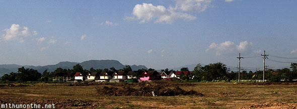 Houses on way to Chiang Rai airport