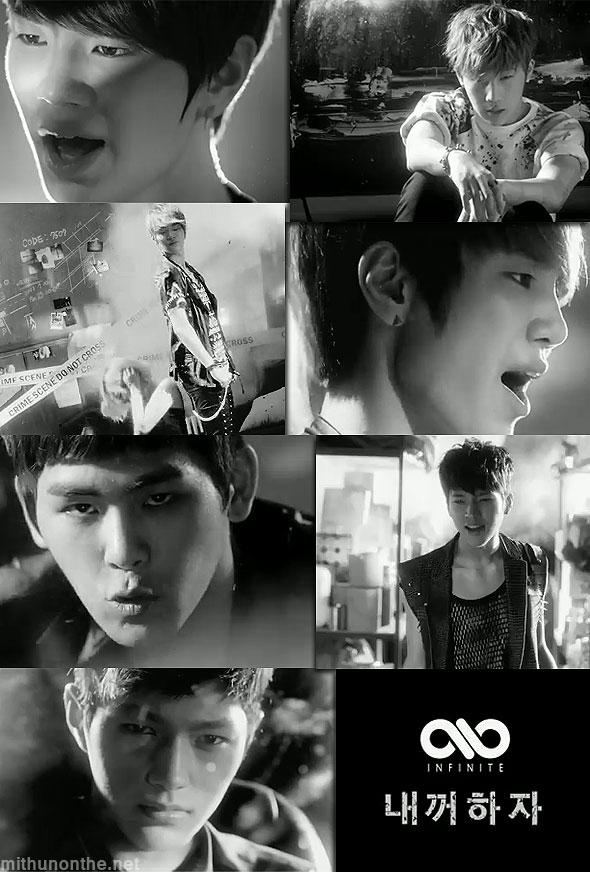 Infinite members Be Mine MV Over the Top k-pop boyband album
