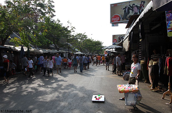 Jatujak weekend market shops Bangkok