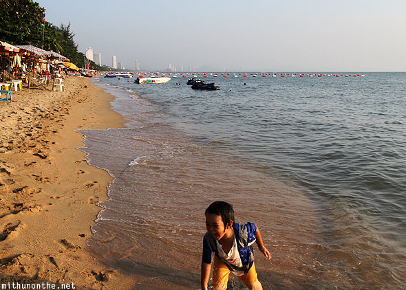 Jomtien beach kid Pattaya Thailand
