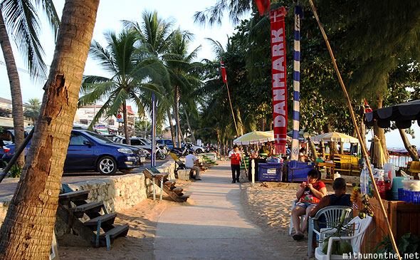 Jomtien beach walk Pattaya Thailand