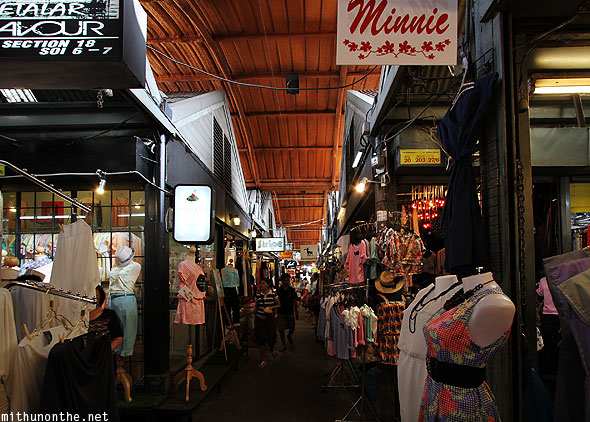 Ladies fashion boutique stores Jatujak market Bangkok Thailand