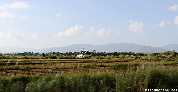 Lone house on way to Chiang Rai airport
