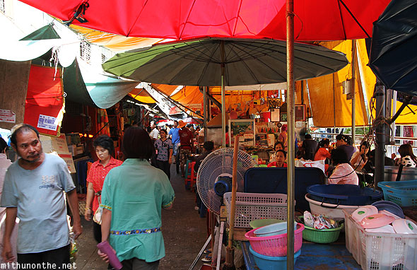 Market near gurdwara Little India Bangkok