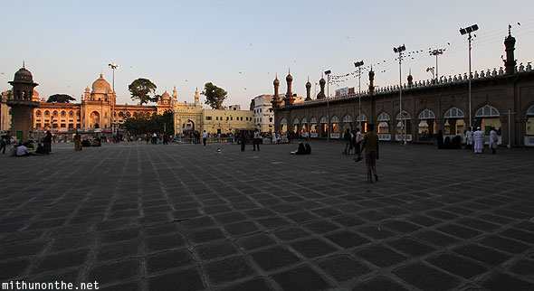 Mecca Masjid grounds Charminar Hyderabad