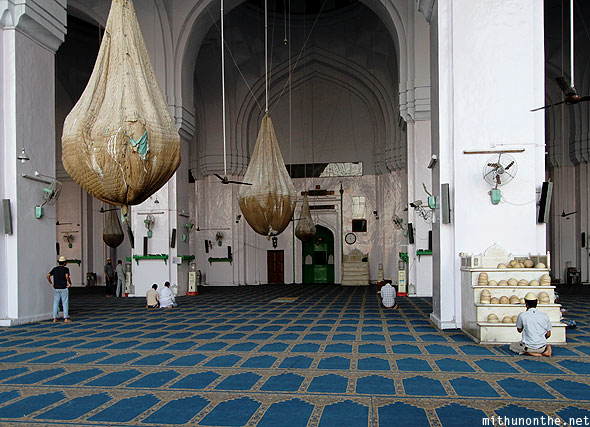 Mecca Masjid prayer hall mosque Hyderabad India