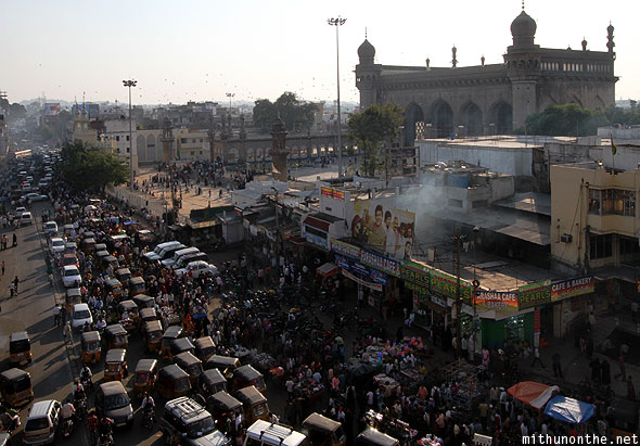 Mecca Masjid view from Charminar Hyderabad