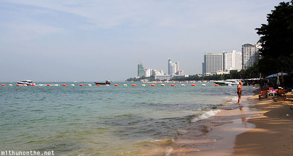 North Pattaya beach Thailand