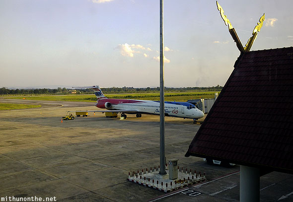 Orient Thai one-two-go airlines Chiang Rai to Bangkok