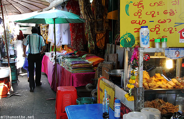 Pahurat market outside gurdwara Bangkok