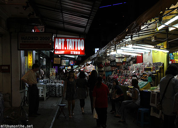 Patpong night market tattoo studio Bangkok