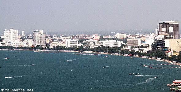 Pattaya bay beach sea view