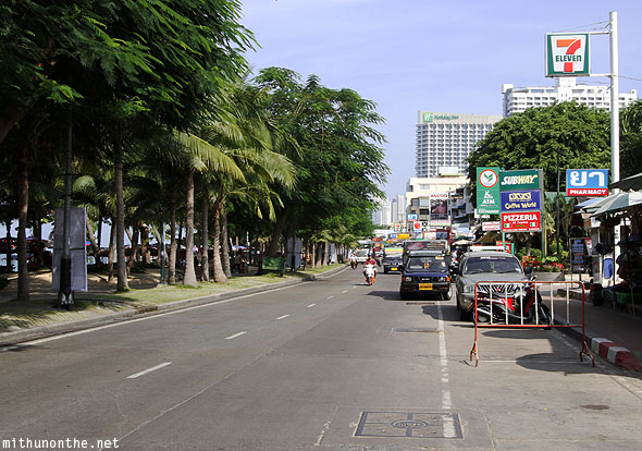 Pattaya beach road morning traffic