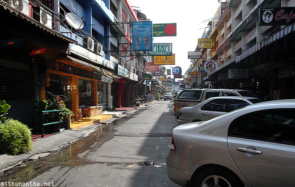 Pattaya beach road soi in morning Thailand