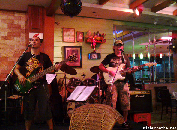 Pattaya rock band playing bar Thailand