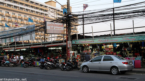 Pattaya Second Road street shops Thailand