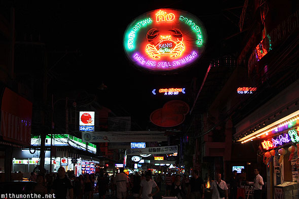 Pattaya Walking Street neon signs Thailand