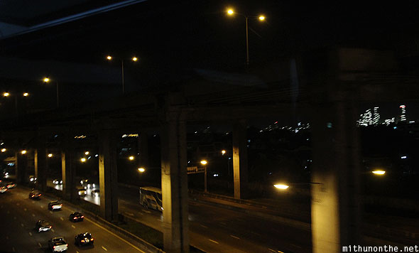 Rama highway to Pattaya at night