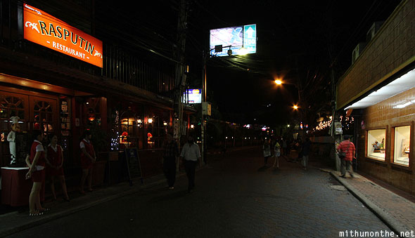 Rasputin restaurant end Walking Street Pattaya Thailand