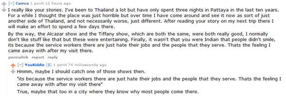 Reddit comment Pattaya