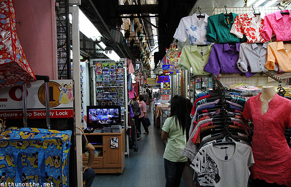 Sampeng market clothes CDs Bangkok Thailand