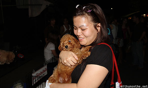 Sawmteii puppy Chatuchak weekend market Bangkok