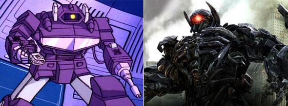 Shockwave then and now Transformers Dark of the Moon