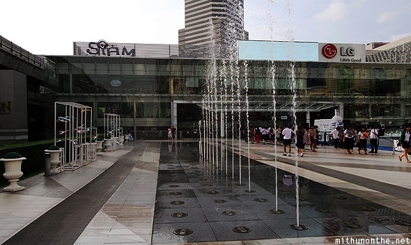 Siam Center mall fountains Bangkok