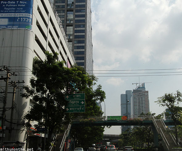 Silom way to Sathon Bangkok