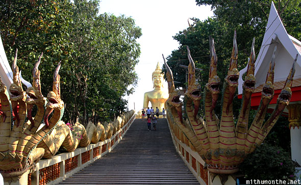 Steps to Big Buddha statue Pattaya Thailand