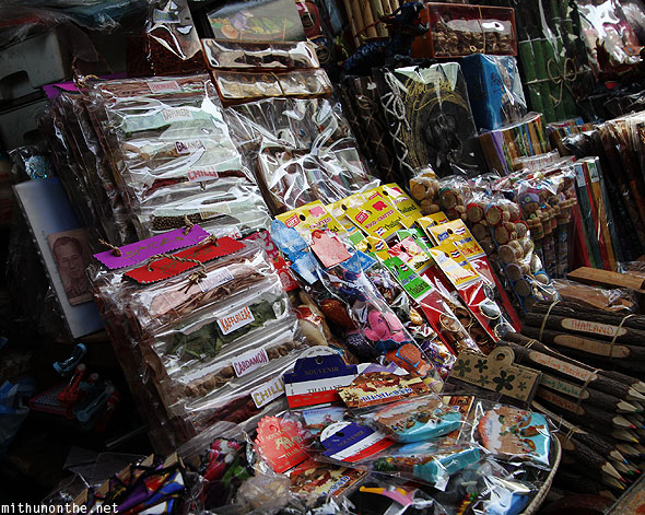 Thailand souvenirs for sale floating market Ratchaburi Thailand