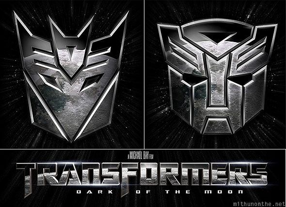 Transformers Dark of the Moon review Autobots Decepticons logo