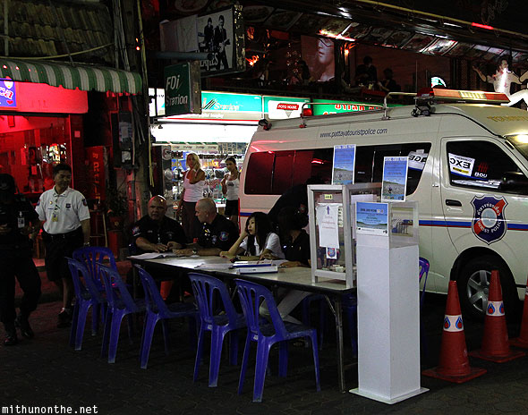 Walking Street tourist police Pattaya Thailand