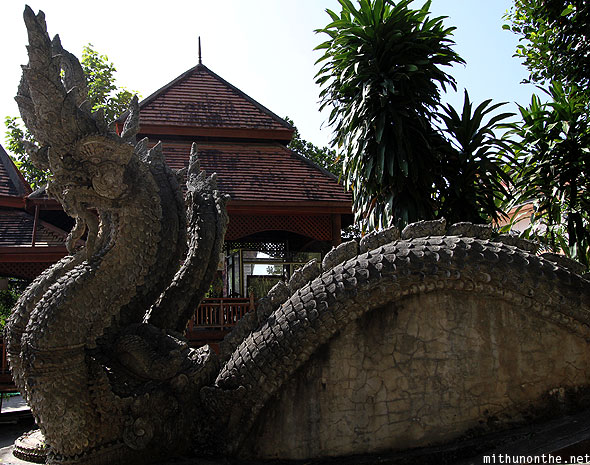 Wat Phra That Pu Khao stone dragon art