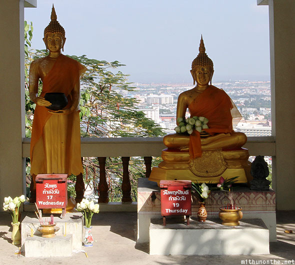 Week day Buddha Wednesday Thursday statues