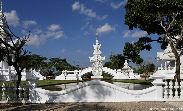 White Temple Wat Rong Khun compound wall Chiang Rai