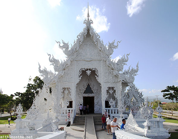 White Temple Wat Rong Khun ubosot prayer hall Chiang Rai
